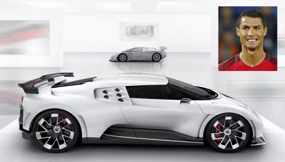 BARSKE: Bugatti sier aldri noe om hvem som kjøper bilene deres, men mange kilder sier at Cristiano Ronaldo har kjøpt fabrikkens hittil sterkeste og dyreste bil – Centodieci. Foto: Bugatti, Dagbladet