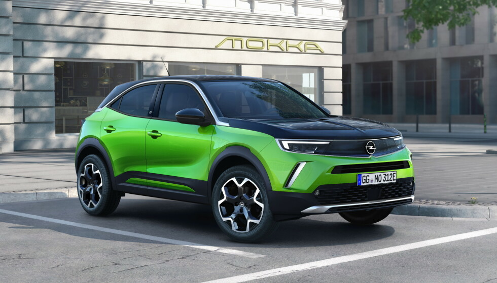 ELEKTRISK: Opel Mokka kommer også med bensin og diesel, men i Norge er det elektrisk som gjelder. Foto: Opel