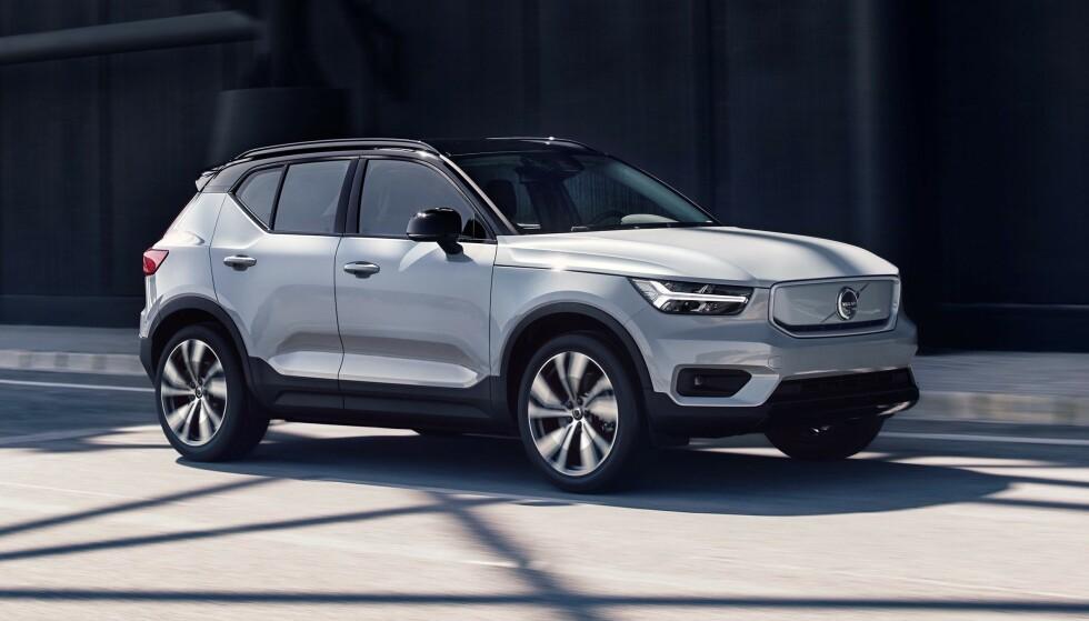 VENTET LENGE: Kundene har ventet lenge på Volvos første elbil. I oktober kommer de første bilene. Foto: Volvo