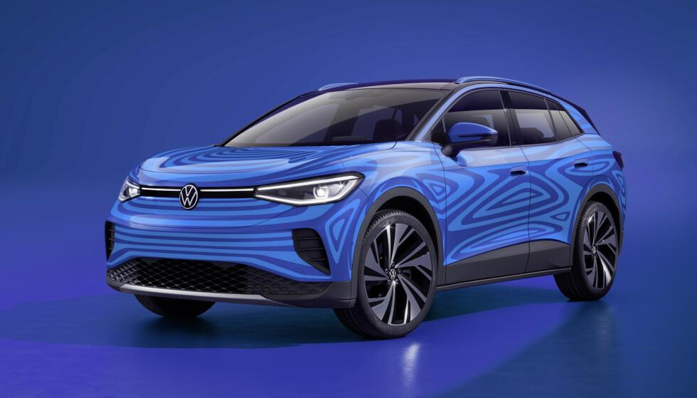 KAMUFLERT: Foreløpig har VW bare offentliggjort kamuflerte biler av ID.4. Foto: VW