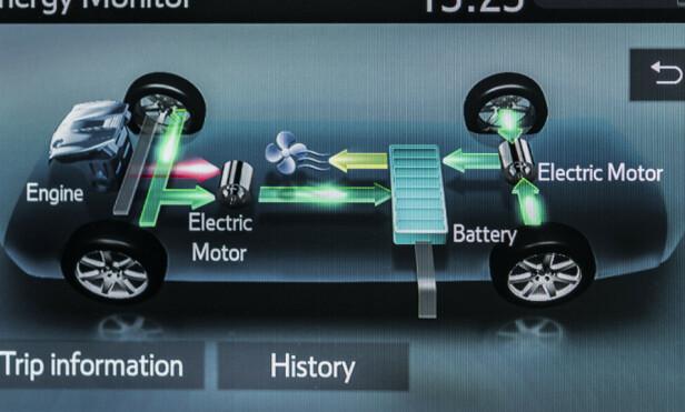 STØRRE BATTERI: Og vi har aldri sett at noen har vist energitap ved bruk av varmeapparat. Foto: Toyota.