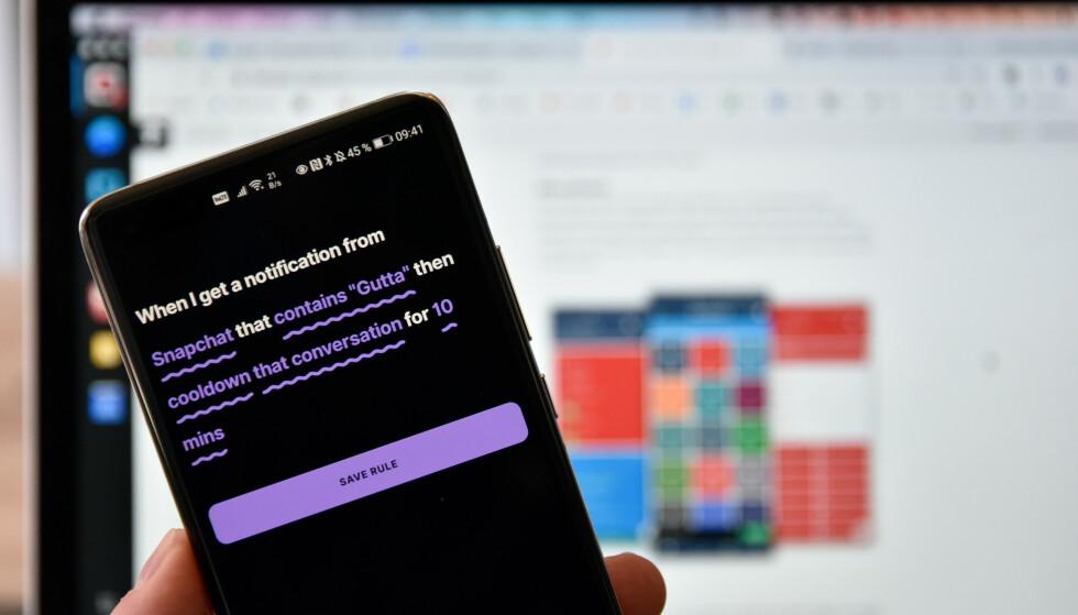 FULL KONTROLL: Buzzkill er én av dagens omtalte apper, som gir deg ekstra god kontroll på varsler som tikker inn. Foto: Pål Joakim Pollen