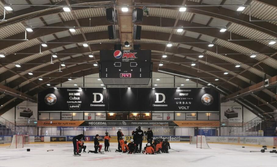 FIKK INN 50 000 MER ENN SIST: Junioravdelingen til Frisk Asker Hockey gjennomførte en Bambusa-dugnad med meget gode resultater. Fortjenesten går til de unge idrettstalentenes aktiviteter, som denne sommercampen i august. Foto: PRIVAT