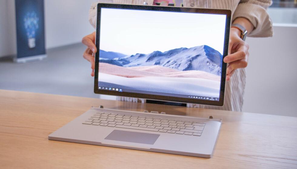 SURFACE BOOK 3: Microsofts heftigste bærbare er blant de mest solide laptopene på markedet. Foto: Martin Kynningsrud Størbu