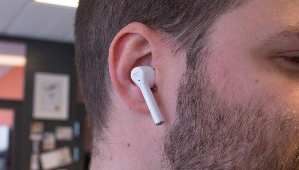 Øreproppene skårer høyt på komfort. Foto: Martin Kynningsrud Størbu
