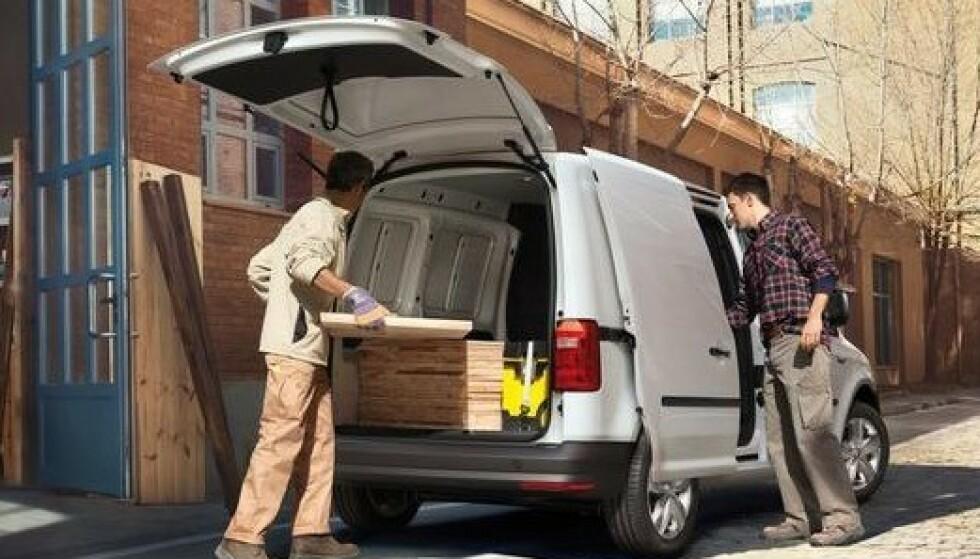DÅRLIG SIKKERHET: Av de 41 håndverkerbilene som er vurdert, er det bare 11 som får beste karakter. Lastekapasitet og økonomi er det som ofte blir vektlagt ved kjøp. Foto: VW