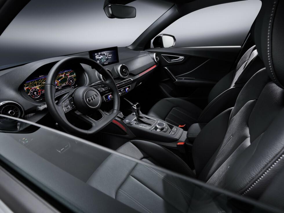DIGITALT: Interiøret blir mer digitalt og får det siste innen tjenester og sikkerhetssystemer. Audi