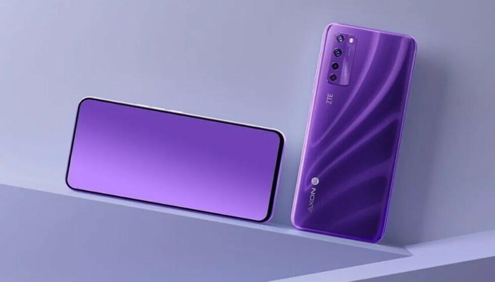 KAMERA BAK SKJERMEN: ZTE Axon 20 5G er den første mobilen med dette. Foto: ZTE