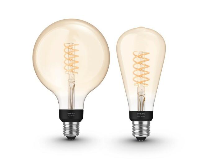 NYE RETROPÆRER: Nå får du enda flere størrelser å velge mellom i Filament-serien til Hue. Foto: Signify