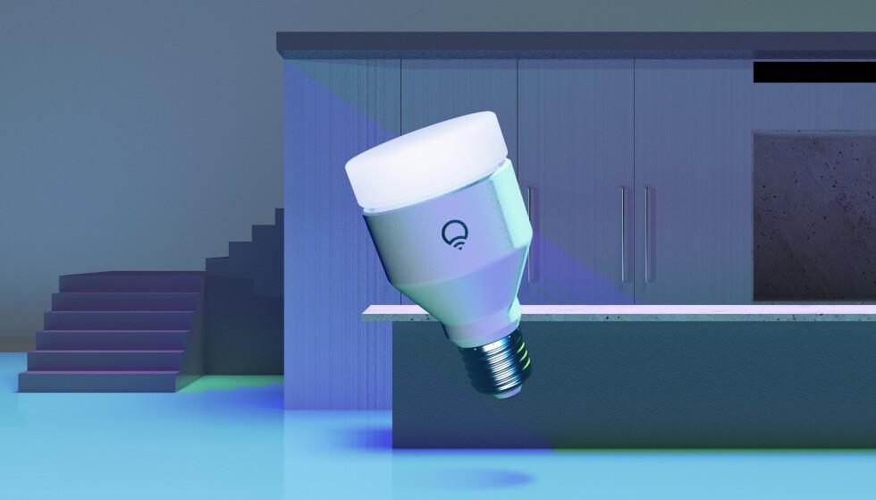 ANTIBAKTERIELT: Produsenten av denne nye smartpæra hevder lyset kan rengjøre overflater. Foto: LIFX