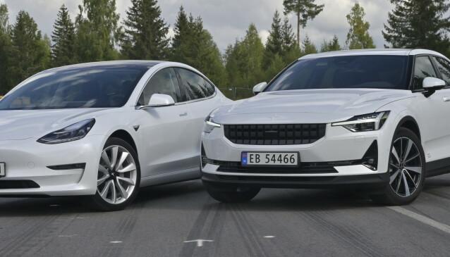TO VEIER: Begge er godt utstyrte og gir deg få valg ved kjøp. Perfekt når man skal kjøpe bil på nettet. Foto: Rune M. Nesheim