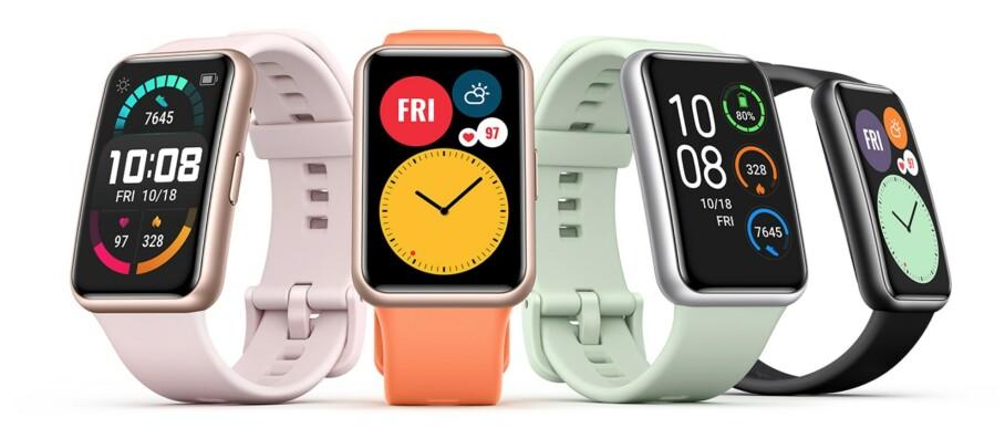 MYE NYTT: Watch Fit var bare ett av mange produkter Huawei lanserte torsdag ettermiddag. Foto: Huawei