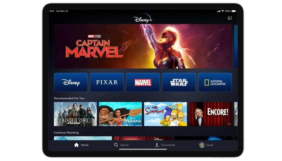FUNGERER PÅ «ALT»: Disneys strømmetjeneste er tilgjengelig på det meste av moderne plattformer, inkludert Mac/PC, mobil og nettbrett samt smart-TV-er, TV-bokser og spillkonsoller. Foto: Disney+