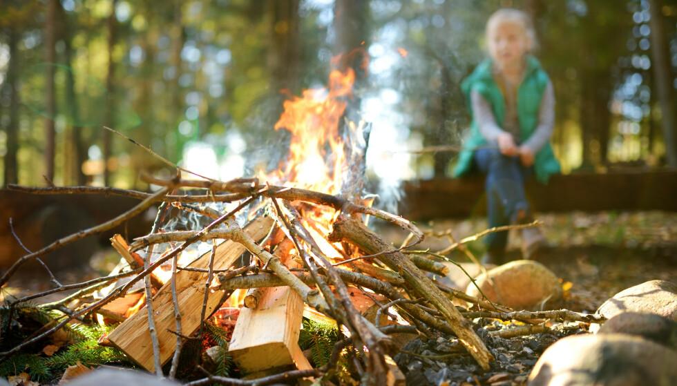 BÅLKOS: Det generelle bålforbudet gjelder til 15. september - så fra og med onsdag 16. september kan du fyre opp bålkos i skog og mark. Foto: Shutterstock/NTB scanpix