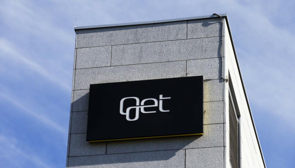 FORSVINNER: Fremover vil du se mindre og mindre til Get-logoen. Nå blir selskapet en del av Telia. Foto: NTB Scanpix