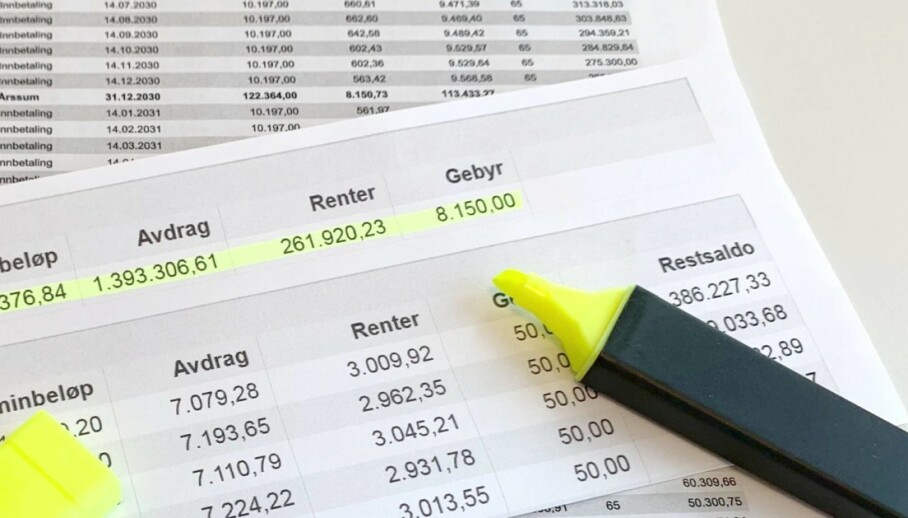 LÅN: Mange med boliglån har kun betalt renter og eventuelle gebyr det siste halvåret og spart noen kroner i ei økonomisk krevende tid. Men totalsummen de må betale for lånet blir høyere. De kan imidlertid gjøre noen utjevnende grep. Foto: Eilin Lindvoll
