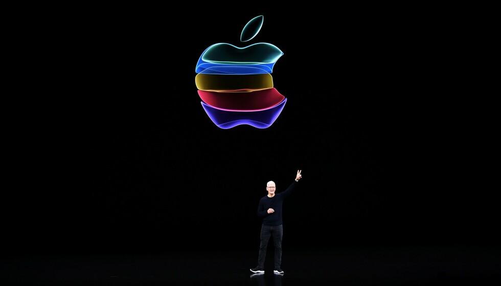 APPLE ONE: Verdens største musikkstrømmetjeneste Spotify langer ut mot Apple, som er verdens mest verdifulle selskap. Photo by Josh Edelson / AFP)