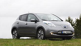 Nissan Leaf. Foto: Rune Korsvoll