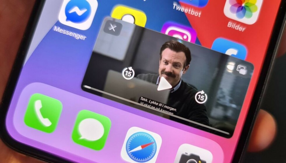 MYE NYTT: IOS 14 introduserer en rekke nye funksjoner som tidligere ikke har vært tilgjengelig på iPhone. Foto: Kirsti Østvang