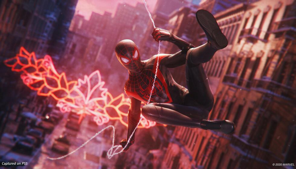 Spider-man: Miles Morales er ett av lanseringsspillene til PlayStation 5. Foto: Sony