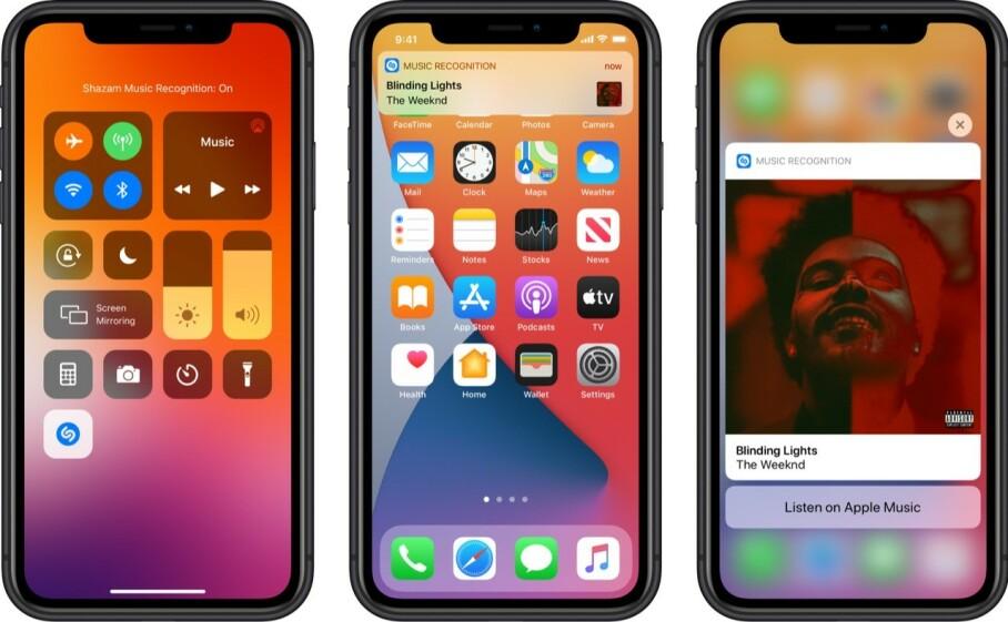 <strong>INTEGRERES I IOS:</strong> Snart blir Shazam en integrert del av operativsystemet til iPhone. Men du vil kunne bruke det til mer enn bare gjenkjenne sanger rundt deg. Foto: Apple