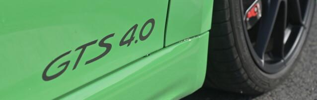 DE MAGISKE: GTS er boksavkombinasjonen for ekstra kjøreglade modellvarianter. Med 4.0 bak, så vet du at det er snakk om stor motor også. Foto: Rune M. Nesheim