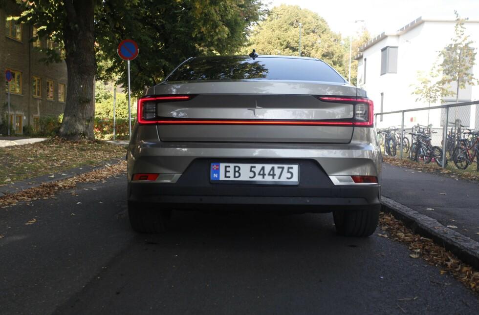 POLESTAR 2: Den nye svensk-kinesiske elbilen ser godt ut. Foto: Øystein B. Fossum