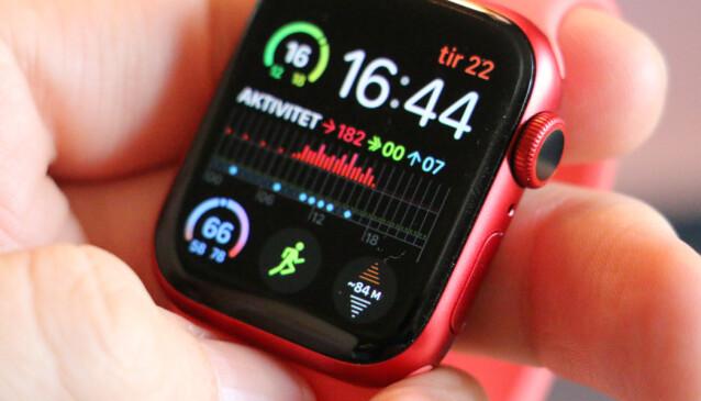 SJEKK HØYDENIVÅET: Årets Apple Watch-modeller kan vise høydenivået ditt i sanntid. Foto: Kirsti Østvang