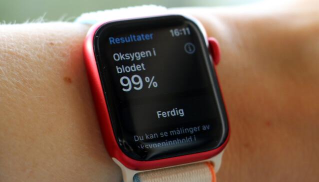 <strong>NORMALE VERDIER:</strong> Vi fikk et helt normalt resultat da vi målte oksygennivået i blodet vårt. Foto: Kirsti Østvang