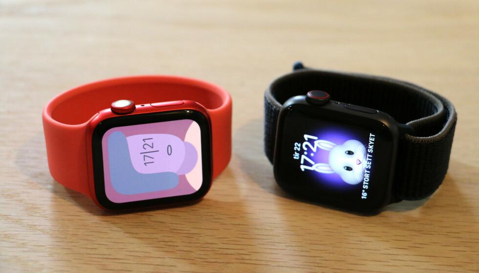 NYE URSKIVER: I watchOS 7 introduserer Apple flere nye urskiver, deriblant en kunsterisk og en Memoji-urskive. Foto: Kirsti Østvang
