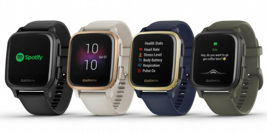 VENU Sq: Garmins Venu Sq kan bli en interessant utfordrer til Fitbit Sense og Apple Watch. Foto: Garmin