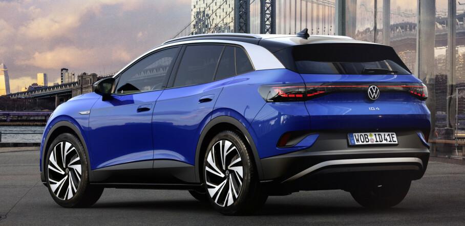 <strong>FREKK HEKK:</strong> Endelig får vi se hvordan VW ID.4 blir seende ut. Akkurat som ID.3 skiller den seg kraftig fra dagens design fra VW. Foto: VW