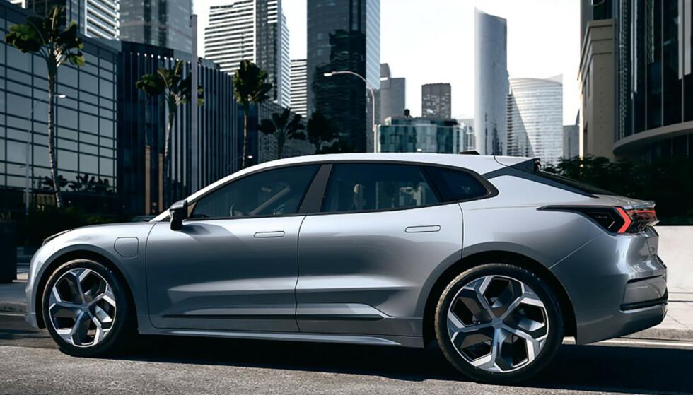FLERE MODELLER: Lynk & Co er et helelektrisk bilmerke og har allerede tre modeller i Kina med Volvo-teknologi under skallet. Dette konseptet baner vei for ny elbil fra Volvo. Foto: Lynk & Co