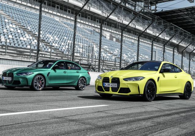 <strong>SEDAN OG COUPÉ:</strong> Fra forrige generasjon ble modellnavnet separert på sedanen og Coupéen, men M3 og M4 er i prinsipp samme bil.