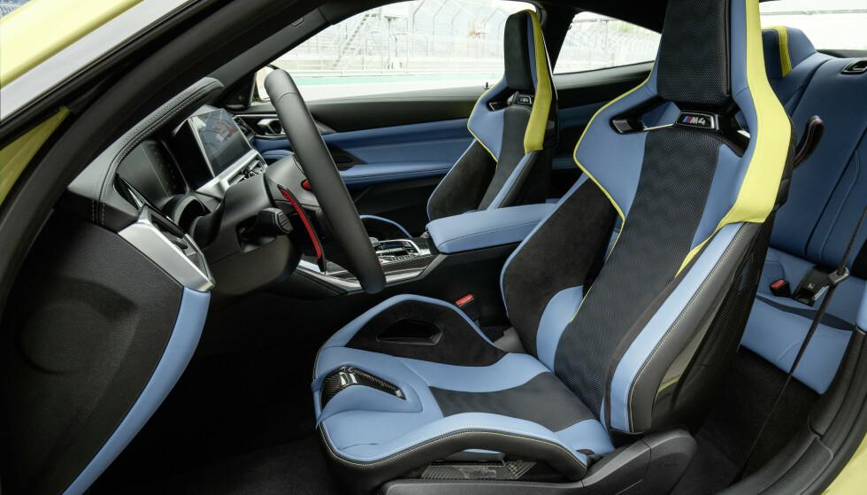 LETTERE: Hvor kule er ikke de nye karbonstolene til BMW! Foto: BMW