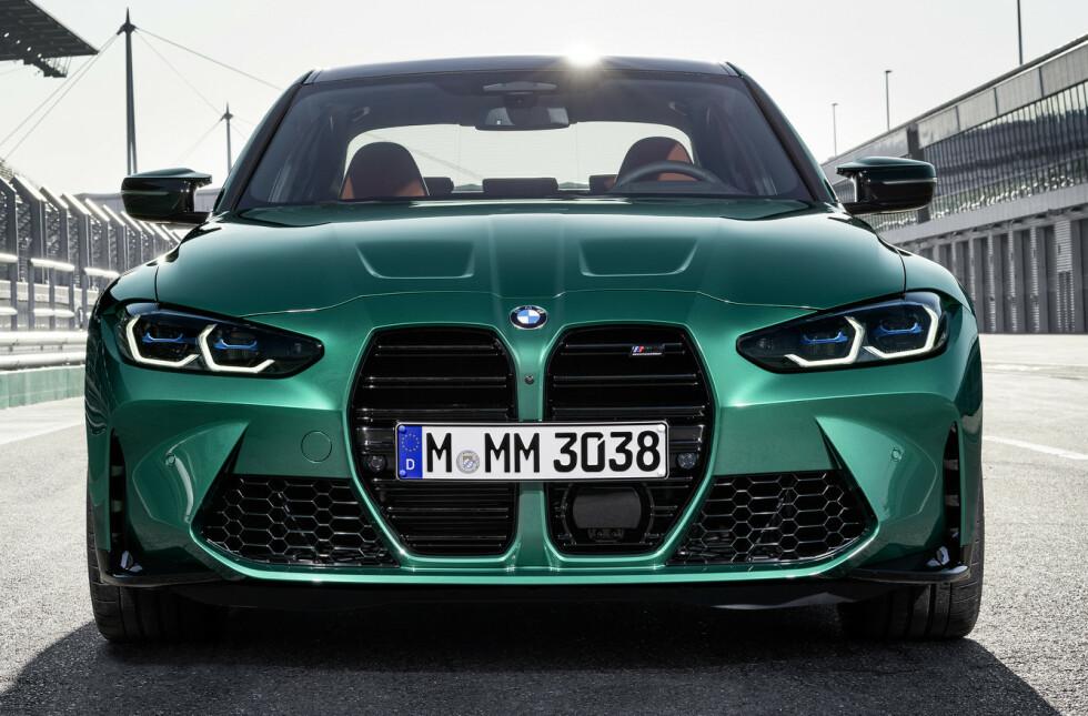 <strong>DISKUTABEL:</strong> Fordelen er at ALLE snakker om M3 etter at denne fronten kom. Foto: BMW
