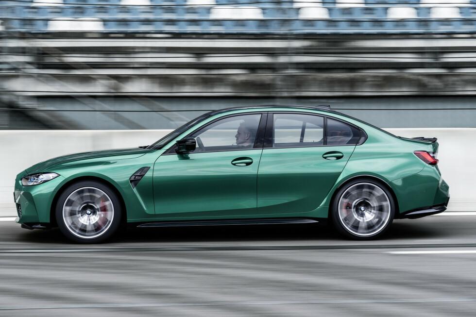 <strong>ANDRE LINJER:</strong> Den ser lit mer konvensjonell ut rett fra siden. Foto: BMW