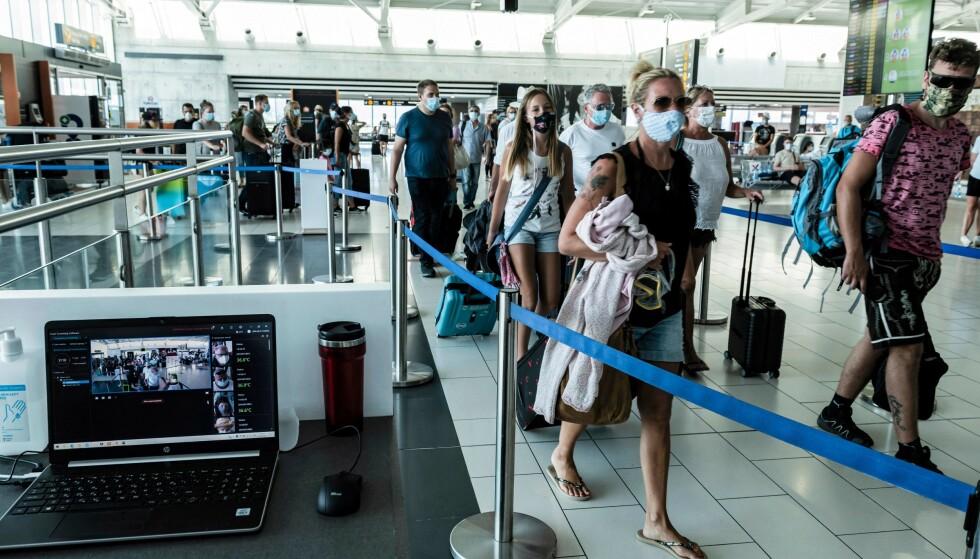 REISERESTRIKSJONER: Tre europeiske land som vi i utgangspunktet kunne ha reist til, har innfør innreiserestriksjoner for nordmenn. Her fra Kypros. Foto: Iakovos Hatzistavrou/AFPNTB