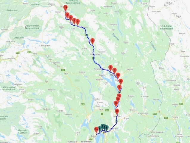 <strong>18 BOMMER:</strong> I dag må du passere 18 betalingsbommer når du kjører strekningen fra Sandvika til Otta i Gudbrandsdalen. Flere nye kommer. Foto: Rune Korsvoll
