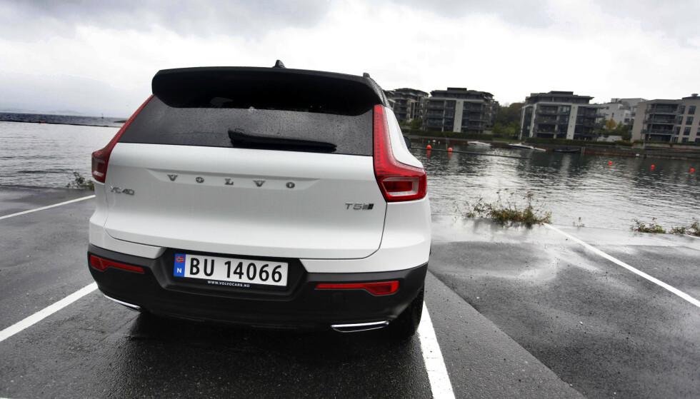 LADBAR VOLVO: Volvo XC40 T5 Recharge har raskt blitt populær i Norge, men det spørs hvordan det går når den helelektriske versjonen kommer. Foto: Øystein B. Fossum