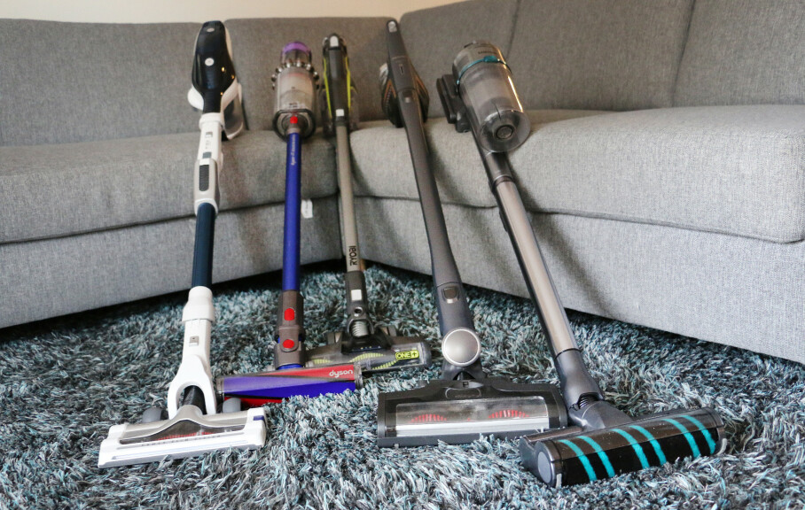 <strong>KLAR FAVORITT:</strong> Det er mange trådløse støvsugere å velge mellom, men i denne gjengen er én klart overlegen. Alle foto: Kirsti Østvang
