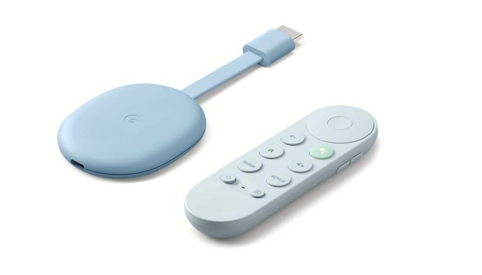 CHROMECAST WITH GOOGLE TV: Endelig kommer den med fjernkontroll, men dessverre må nordmenn vente. Foto: Google