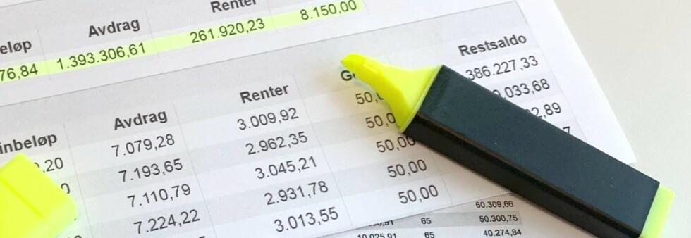 FÅR FRADRAG: Du får skattefradrag for gjeldsrentene, men er dette fradraget så bra at du bør ha noe gjeld til enhver tid? Det får du svar på i saken under. Foto: Eilin Lindvoll.