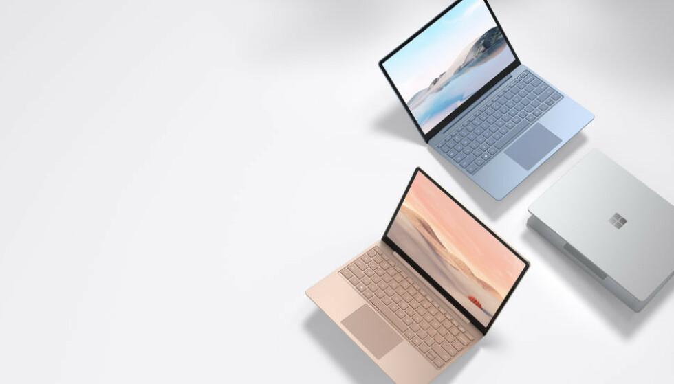 SURFACE LAPTOP GO: Microsofts nye Surface plasserer seg som en konkurrent mot Chromebookene. Foto: Microsoft