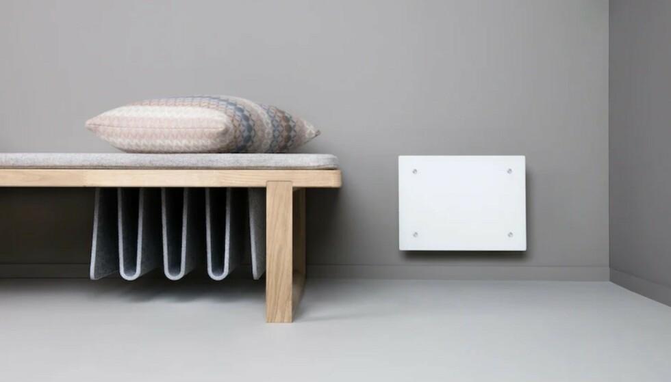 SALGSSTOPP: Årsaken til omsetningsforbudet av Adax Eco Basic-panelovnene (eksempel på bildet) er at de har for lav energieffektivitet, ifølge NVE. Foto: Produsenten.
