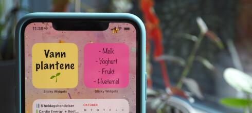 Klistrelapper på iPhone-hjemskjermen