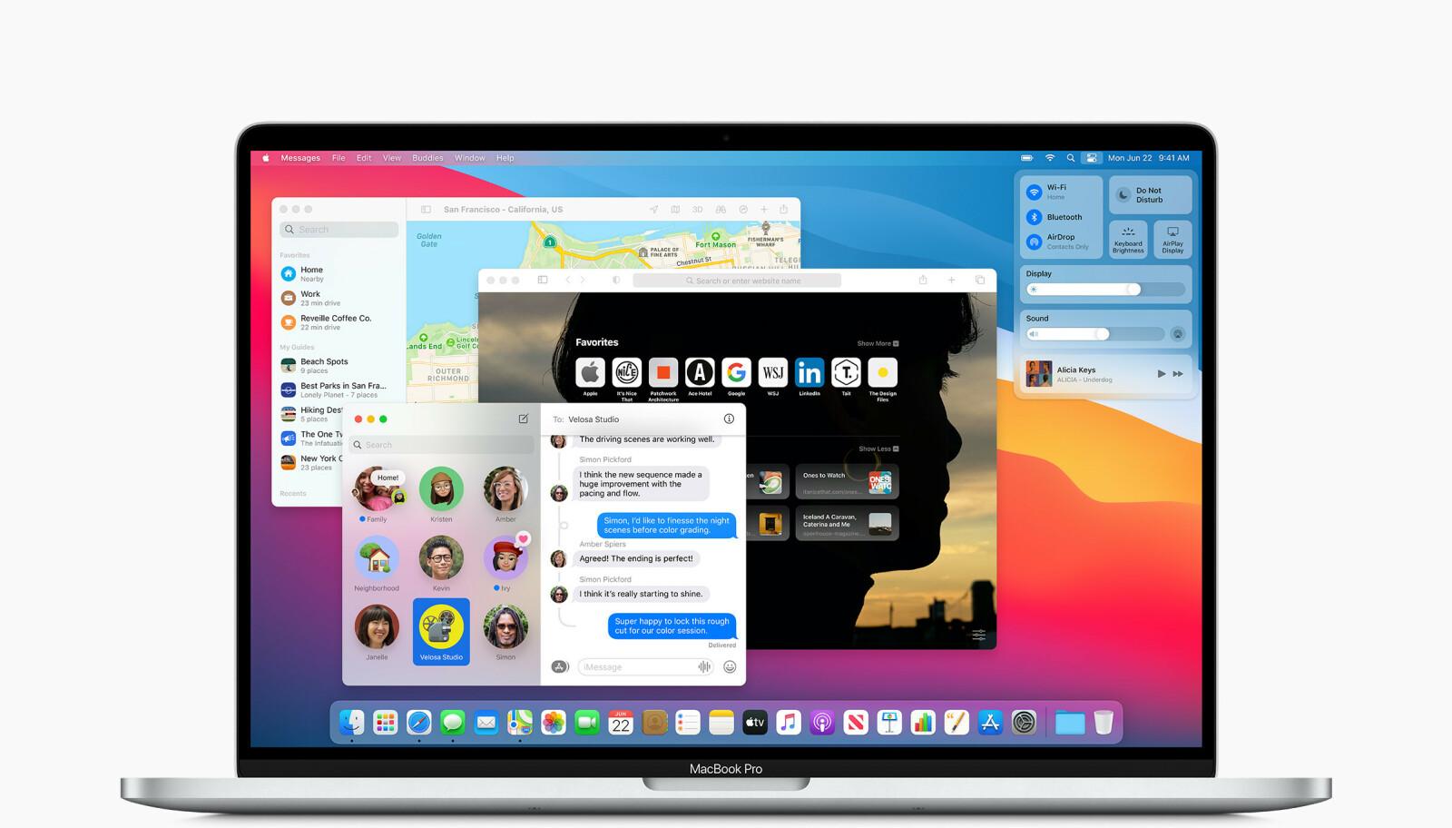 PENERE: Apple har gitt brukergrensesnittet en etterlengtet overhaling i macOS Big Sur. Foto: Apple