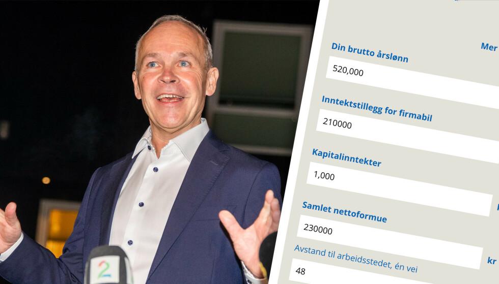 REGN UT: I Dinsides skattekalkulator kan du regne ut hva skatten din blir neste år. Foto: Terje Pedersen/NTB