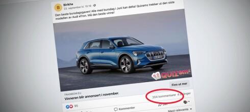 Nei, du kan ikke vinne en Audi eTron