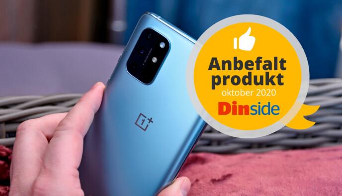 OnePlus 8T får velfortjent Dinsides anbefalt-medalje. Foto: Pål Joakim Pollen